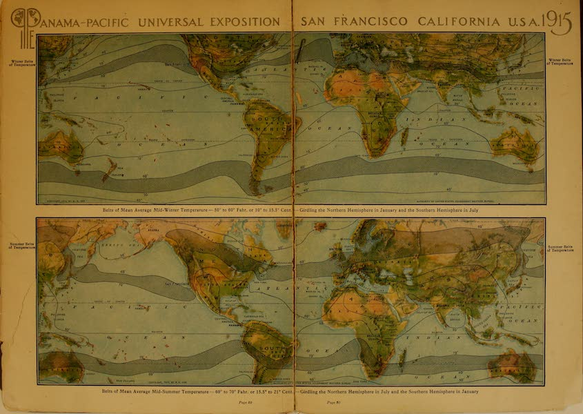 Panama-Pacific International Exposition - Winter and Summer Belts of Temperature (1913)