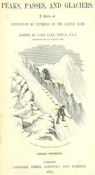 Peaks, Passes and Glaciers - Title Page (1859)