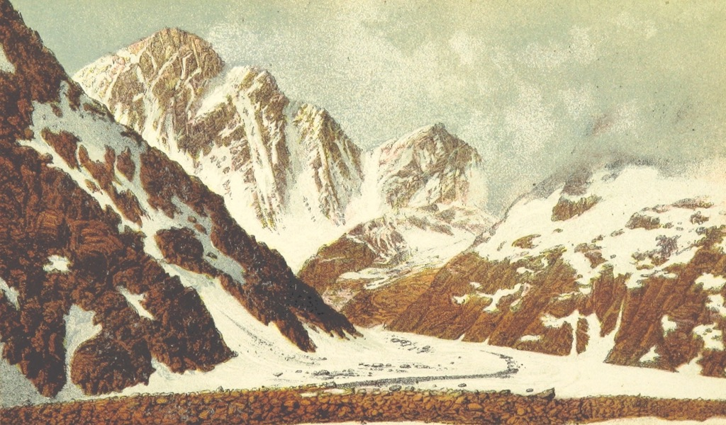Peaks, Passes and Glaciers - The Finsteraar Horn from the South-East (1859)