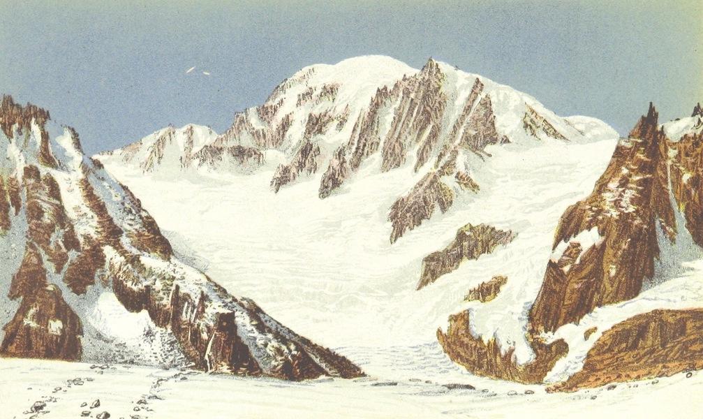 Mont Blanc and Glacier du Géant from the Jardin