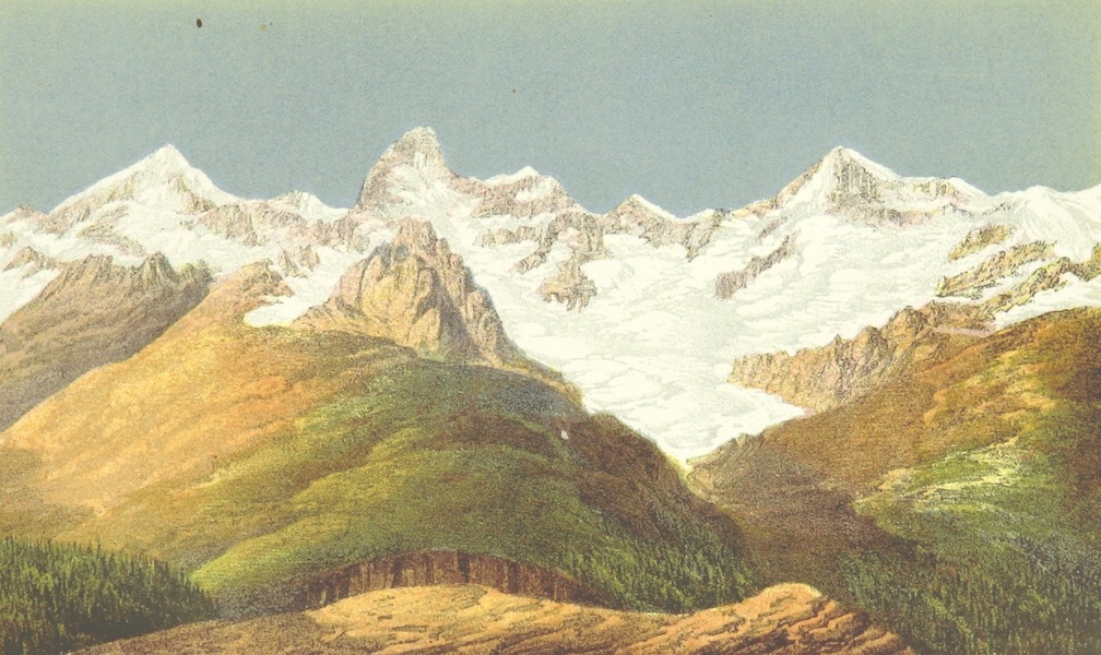 Peaks, Passes and Glaciers - View of the Trift Pass from the Gornergrat (1859)