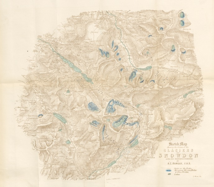 Peaks, Passes and Glaciers - Sketch Map Showing the Course of the Glaciers of Snowden and It's Neighbourhood (1859)
