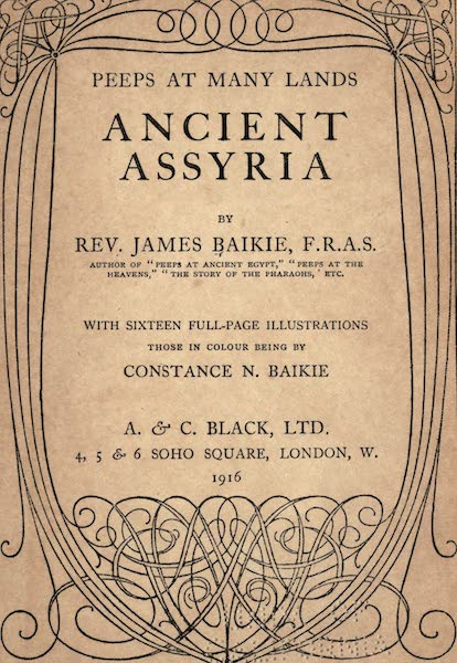 Peeps at Many Lands: Ancient Assyria - Title Page (1916)