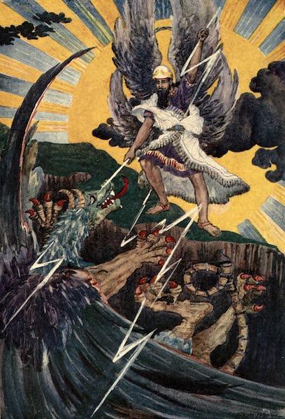 Peeps at Many Lands: Ancient Assyria - Marduk Conquers Tiamat (1916)