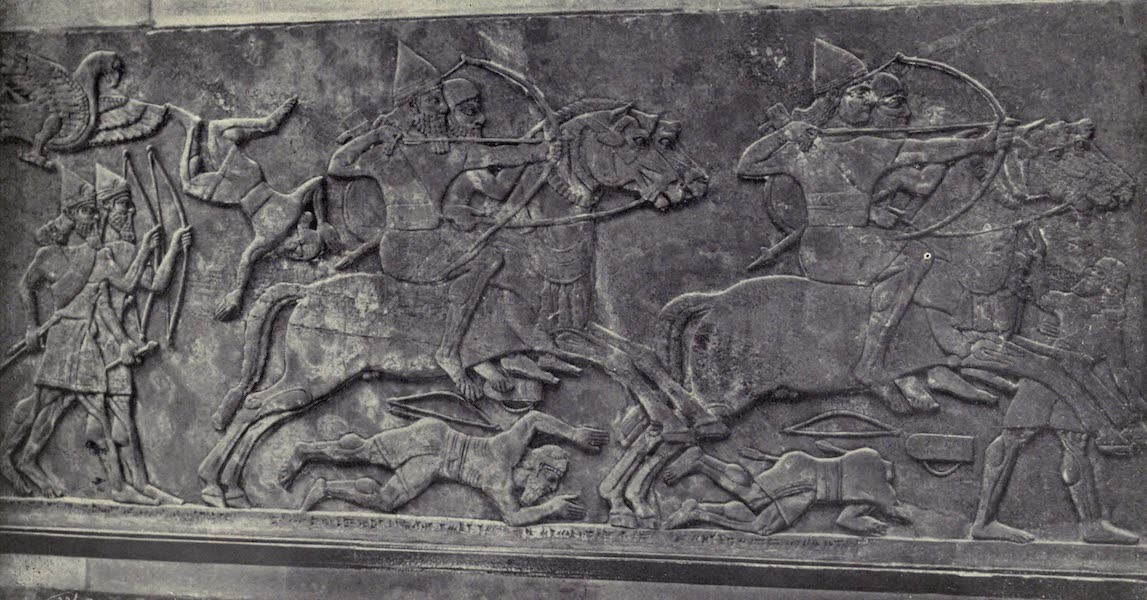 Peeps at Many Lands: Ancient Assyria - Assyrian Cavalry Charging (1916)
