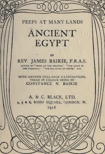 Ancient History - Peeps at Many Lands: Ancient Egypt