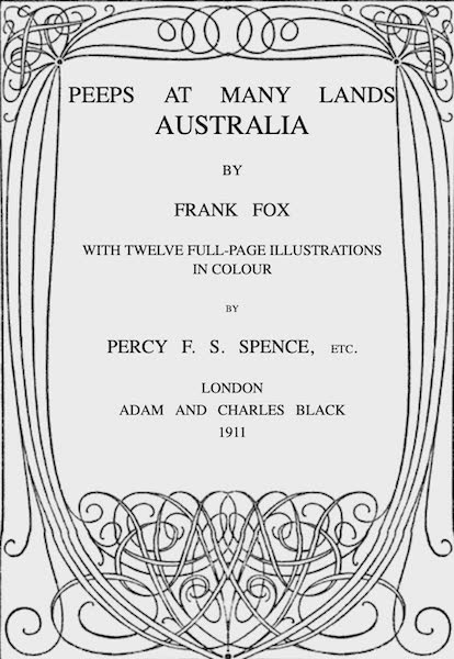 Peeps at Many Lands: Australia - Title Page (1911)