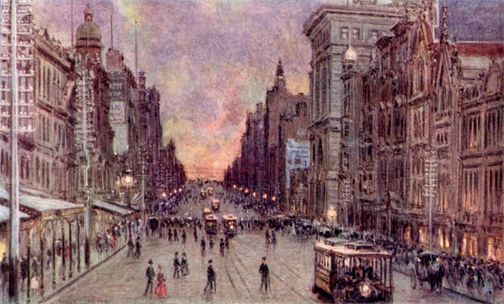 Peeps at Many Lands: Australia - Collins Street, Melbourne (1911)