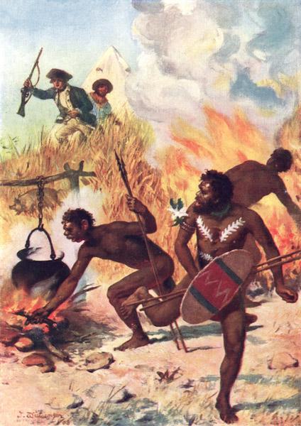 Peeps at Many Lands: Australia - Australian Natives in Captain Cook's Time (1911)