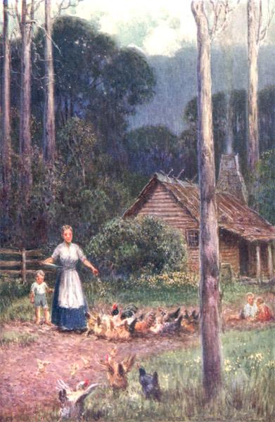 Peeps at Many Lands: Australia - A Hut in the Bush (1911)