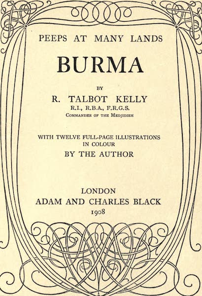 Peeps at Many Lands: Burma - Title Page (1908)