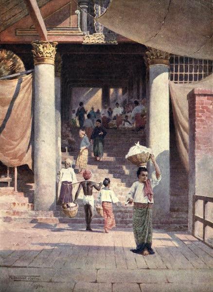 Peeps at Many Lands: Burma - The Pagoda Steps, Rangoon (1908)