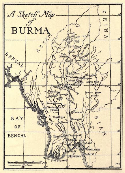 Peeps at Many Lands: Burma - Sketch Map of Burma (1908)
