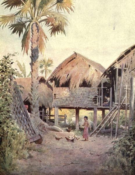 Peeps at Many Lands: Burma - Entrance to a Burmese Village (1908)