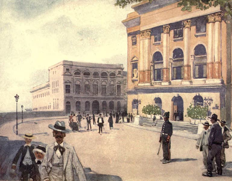 Peeps at Many Lands: South America - The Palace Square, Sao Paulo (1915)