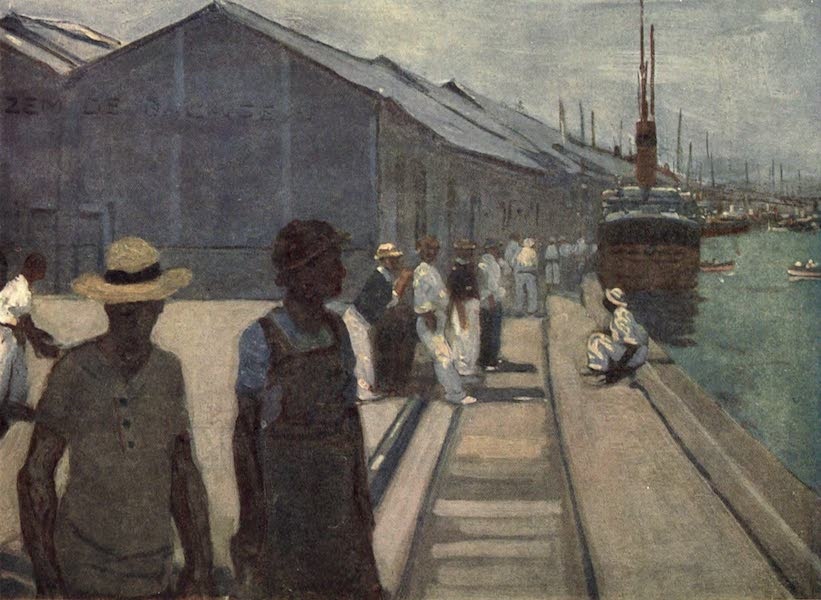 Peeps at Many Lands: South America - The Docks at Santos (1915)