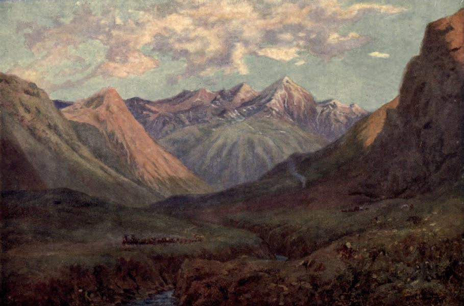 Peeps at Many Lands: South America - Mule Team Leaving Puente del Inca (1915)