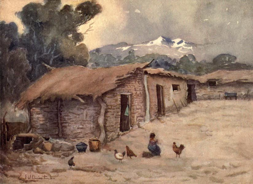 Peeps at Many Lands: South America - A Paisano's Hut of the Chilian Frontier (1915)
