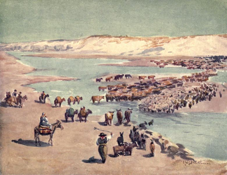 Peeps at Many Lands: South America - Chilenos Trekking Across the Frontier (1915)