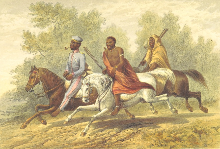 Pen and Pencil Reminiscences of a Campaign in South Africa - A Kaffir Chief in Full Uniform with His Prime Minister in Undress Ditto (1861)