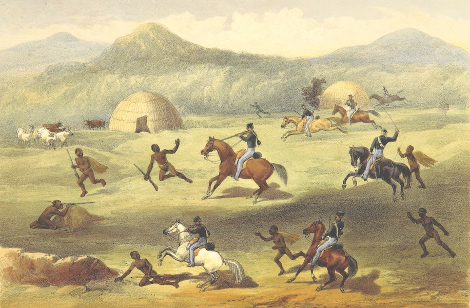 Pen and Pencil Reminiscences of a Campaign in South Africa - A Skirmish in the Open (1861)
