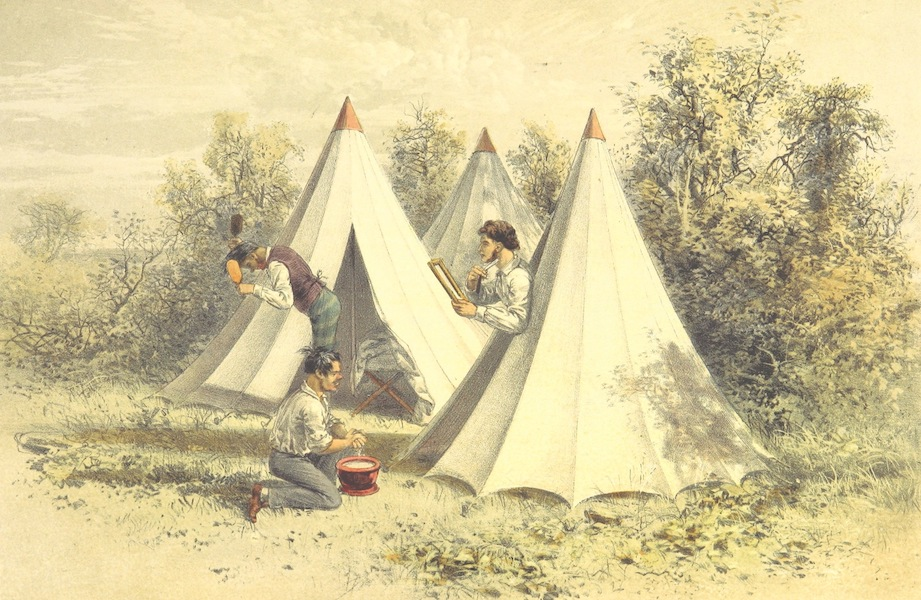 Pen and Pencil Reminiscences of a Campaign in South Africa - Toilet in the Field (1861)