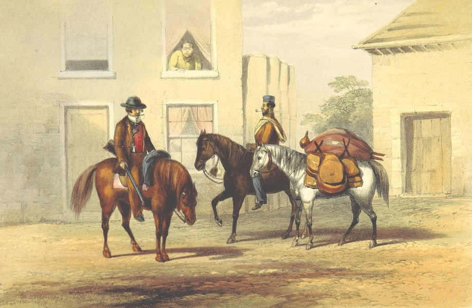 Pen and Pencil Reminiscences of a Campaign in South Africa - Cornet Smith Starts on Patrol (1861)