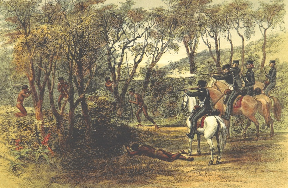 Pen and Pencil Reminiscences of a Campaign in South Africa - Fighting in the Bush (1861)
