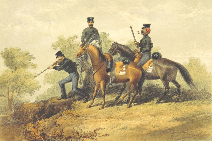 Pen and Pencil Reminiscences of a Campaign in South Africa - Skirmishing Party of Cape Mounted Rifles (1861)