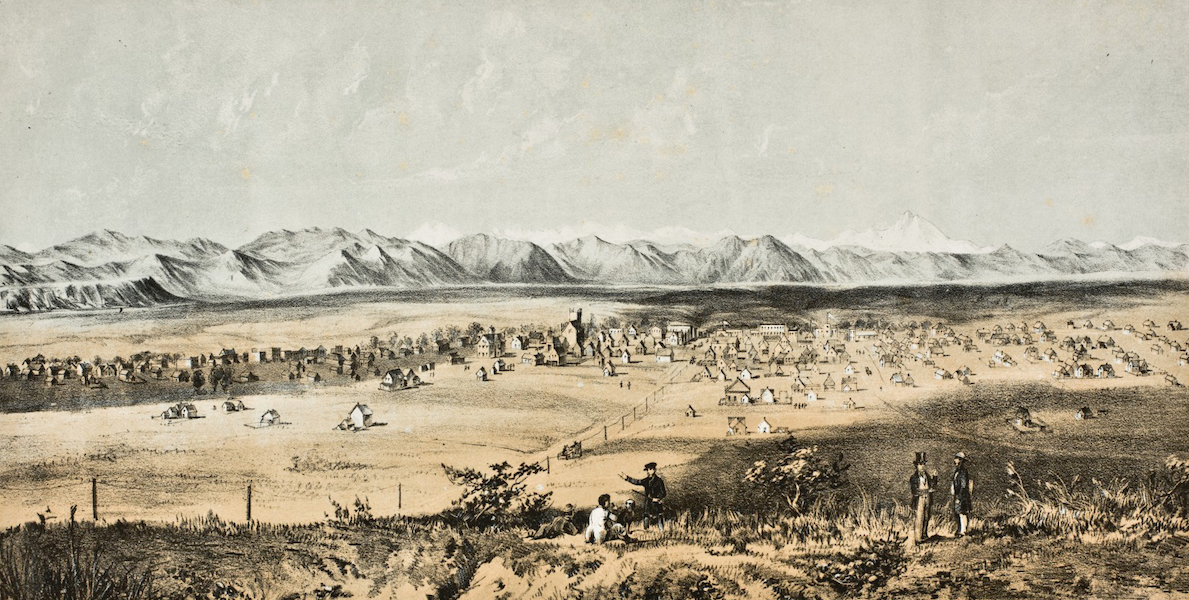 Pencil Sketches of Colorado - Denver City of the Plains (1866)