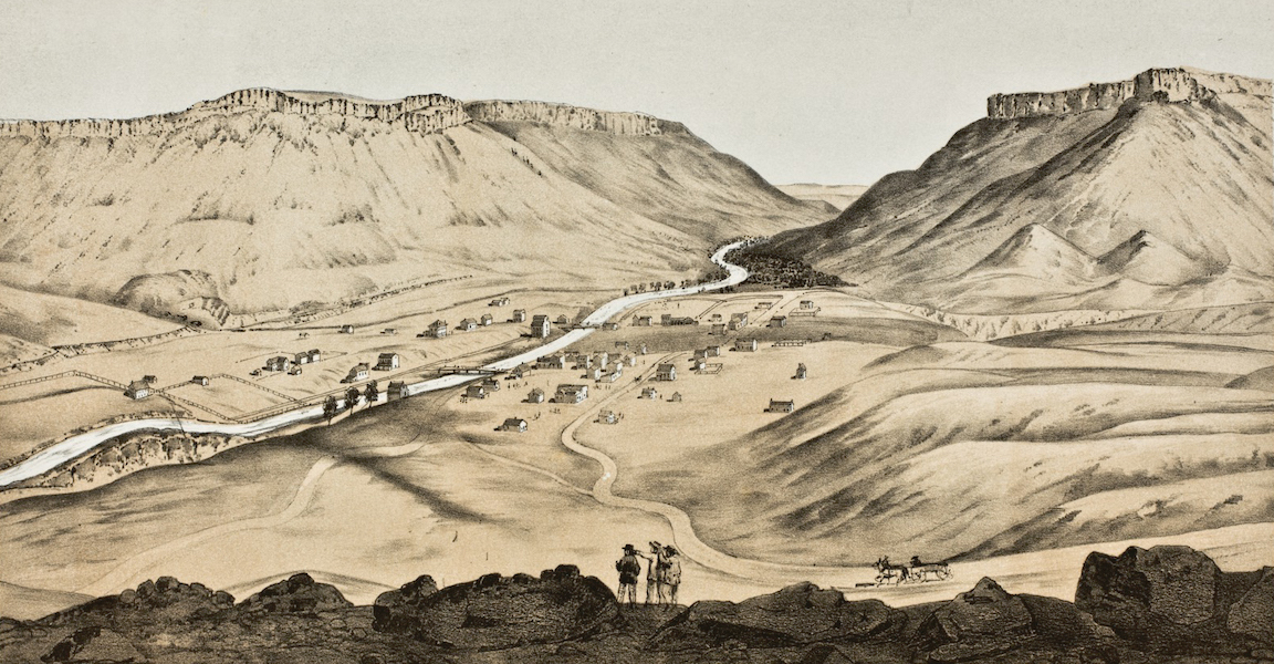 Pencil Sketches of Colorado - Golden City (1866)
