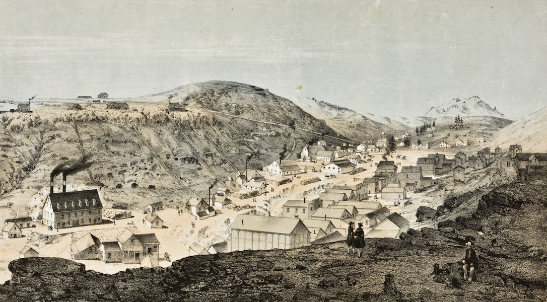 Pencil Sketches of Colorado - Nevada, Colorado (1866)