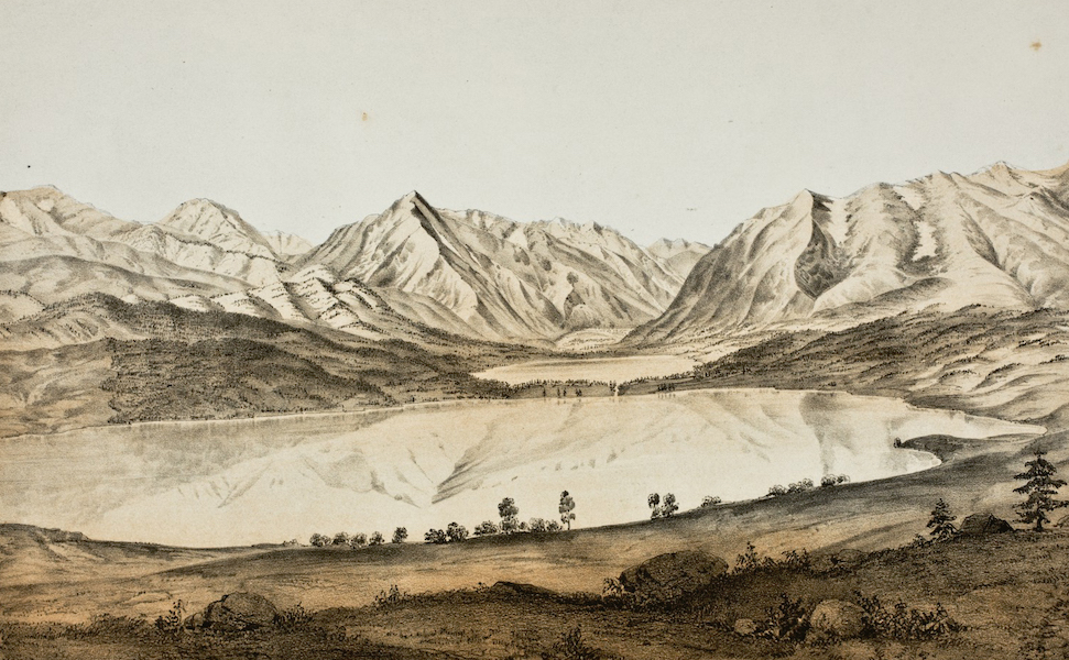 Pencil Sketches of Colorado - Twin Lakes (1866)