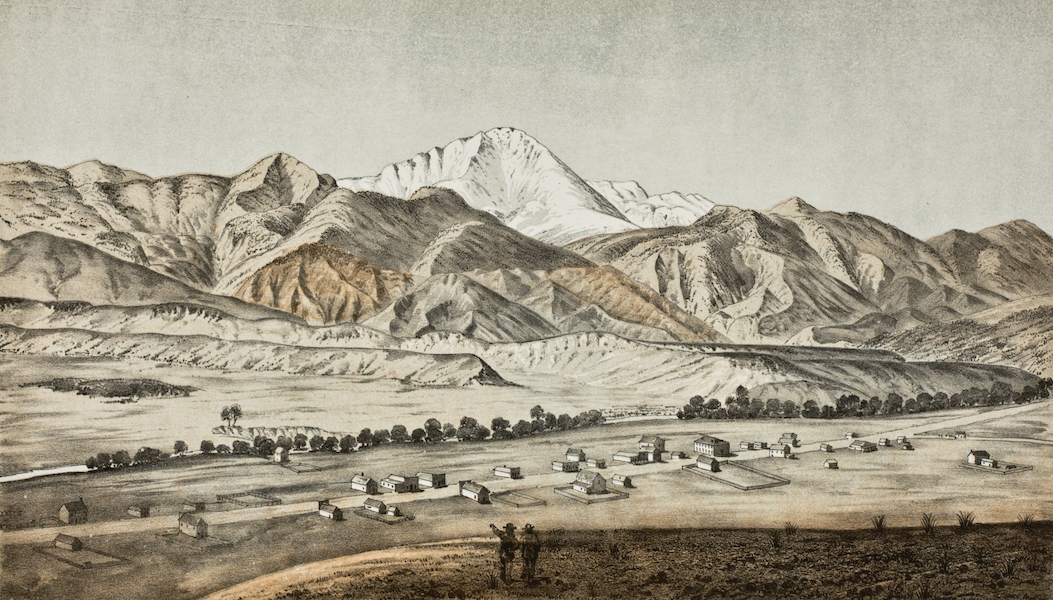 Pencil Sketches of Colorado - Pike's Peak and Colorado City (1866)