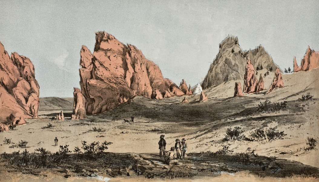 Pencil Sketches of Colorado - Garden of the Gods (1866)