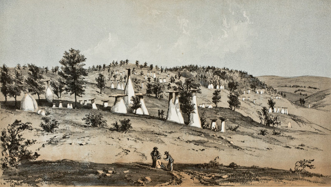 Pencil Sketches of Colorado - Monuments, near Monument Creek (1866)