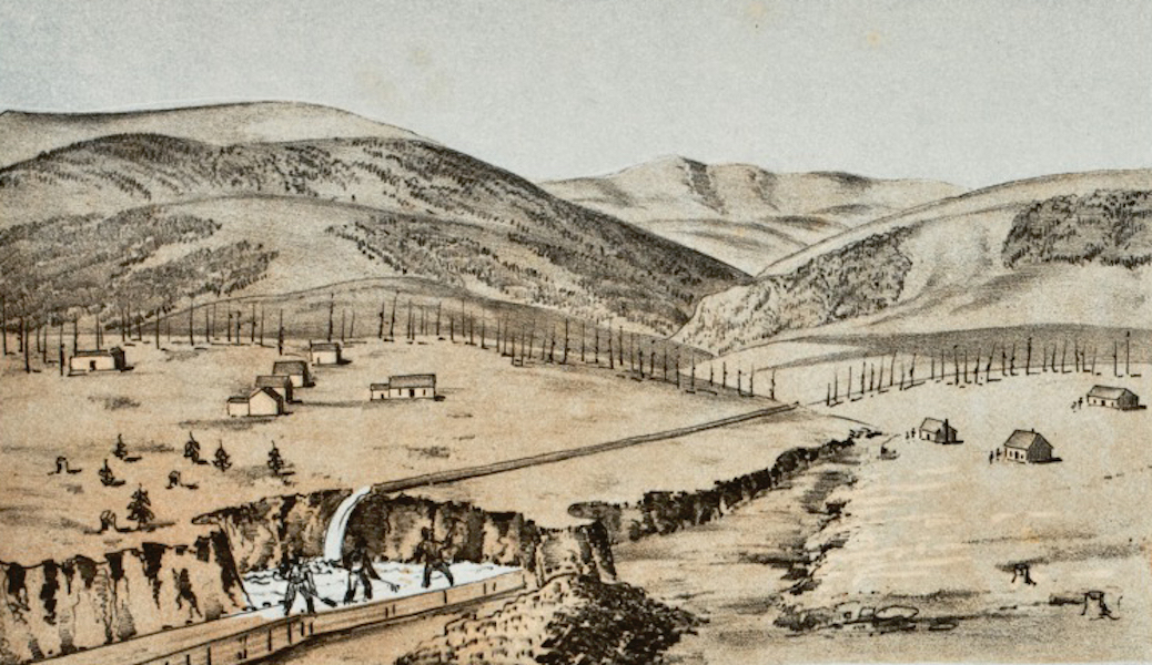 Pencil Sketches of Colorado - Gulch Mining, Colorado Gulch (1866)