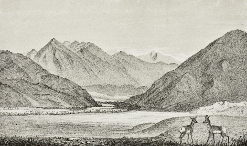 Pencil Sketches of Montana - Exit of the Yellowstone from the Mountains (1868)