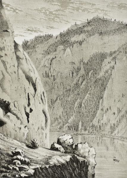 Pencil Sketches of Montana - Prickly Pear Mountain [I] (1868)