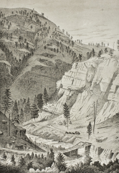Pencil Sketches of Montana - Prickly Pear Mountain [II] (1868)