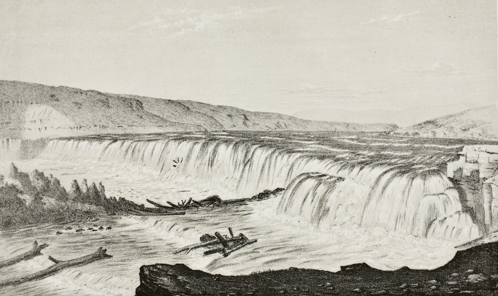 Pencil Sketches of Montana - Falls of the Missouri (1868)