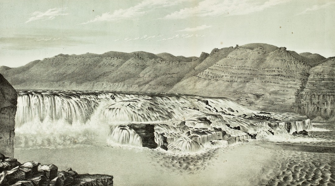 Pencil Sketches of Montana - Great Falls of the Missouri (1868)