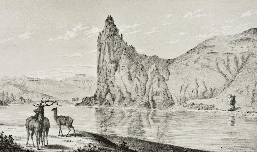 Pencil Sketches of Montana - Citadel Rock (1868)