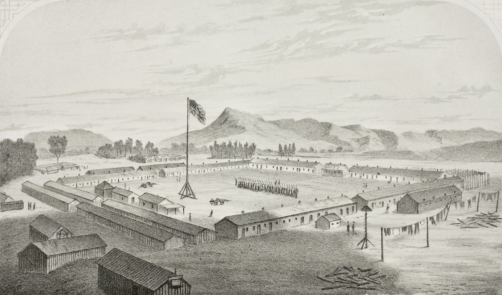 Pencil Sketches of Montana - Fort Cook (1868)