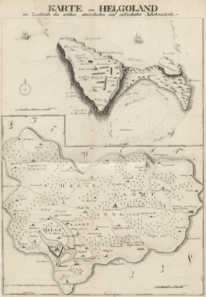 Philosophisch-historisch-geographische Untersuchungen uber die Insel Helgoland - Karten von Helgoland im Mittelalter (1826)