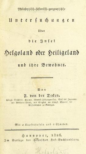 Aquatint & Lithography - Philosophisch-historisch-geographische Untersuchungen uber die Insel Helgoland