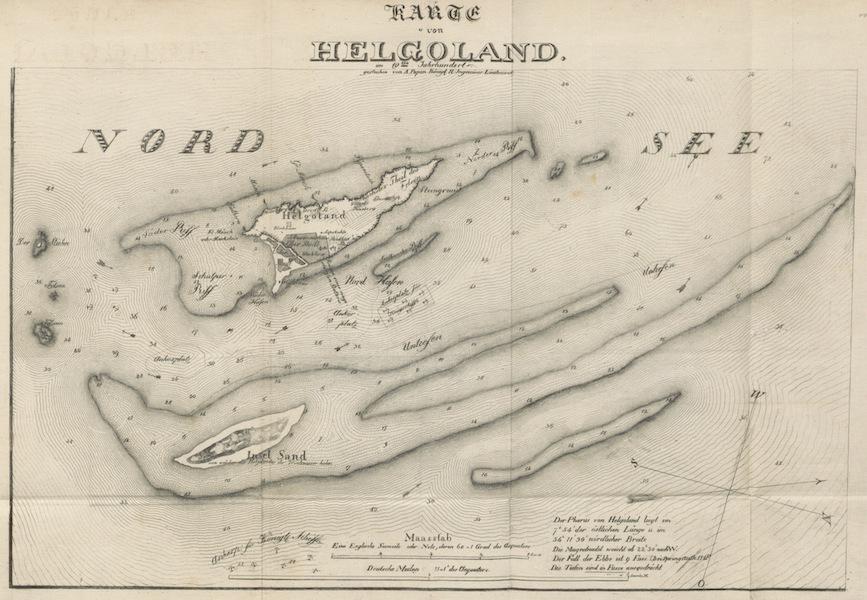 Philosophisch-historisch-geographische Untersuchungen uber die Insel Helgoland - Karte von Helgoland (1826)