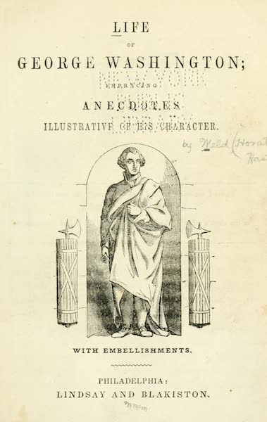 Pictorial Life of George Washington - Title Page (1845)