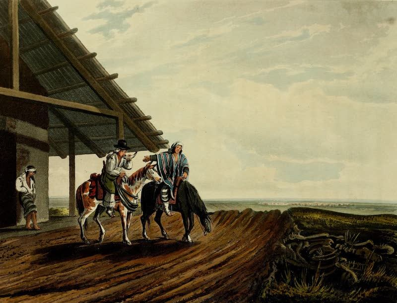 Picturesque Buenos Ayres & Monte Video - A Country Public House and Travellers (1820)