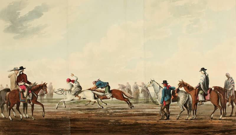 Picturesque Buenos Ayres & Monte Video - A Horse Race (1820)